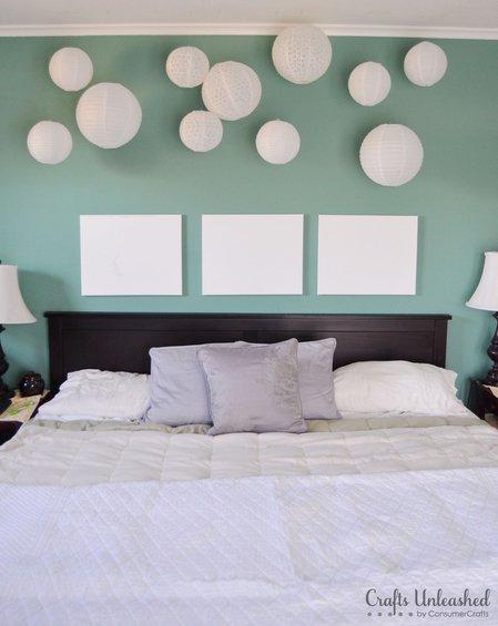 Фотография: Спальня в стиле , Декор интерьера, Декор дома, Цвет в интерьере, Обои – фото на InMyRoom.ru