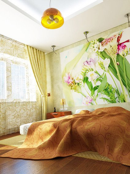 Фотография: Спальня в стиле Современный, Декор интерьера, Интерьер комнат, Хрущевка – фото на INMYROOM