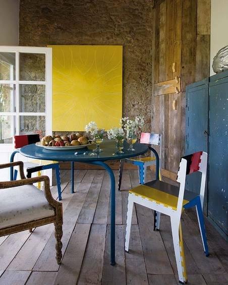 Фотография: Кухня и столовая в стиле Эклектика, Дом, Испания, Дома и квартиры, Современное искусство – фото на INMYROOM