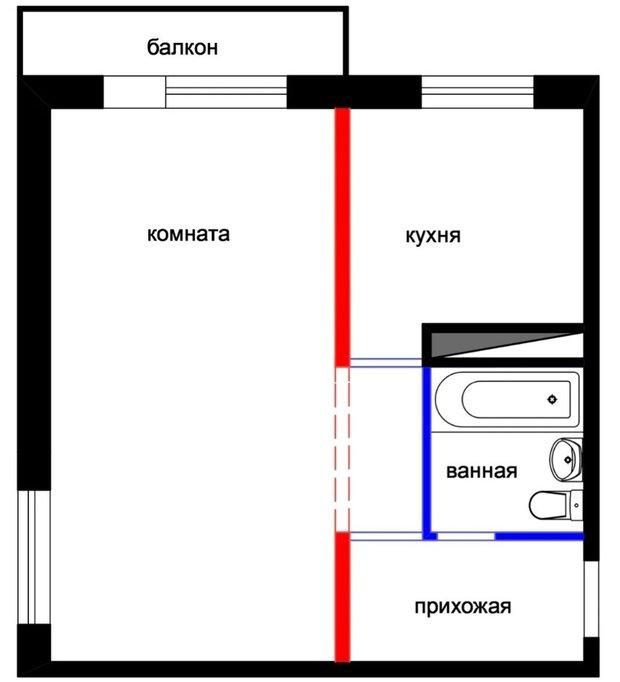 Фотография: Планировки в стиле , Советы, планировка однушки, перепланировка двушки, планировка маленькой квартиры, Руслан Кирничанский – фото на INMYROOM