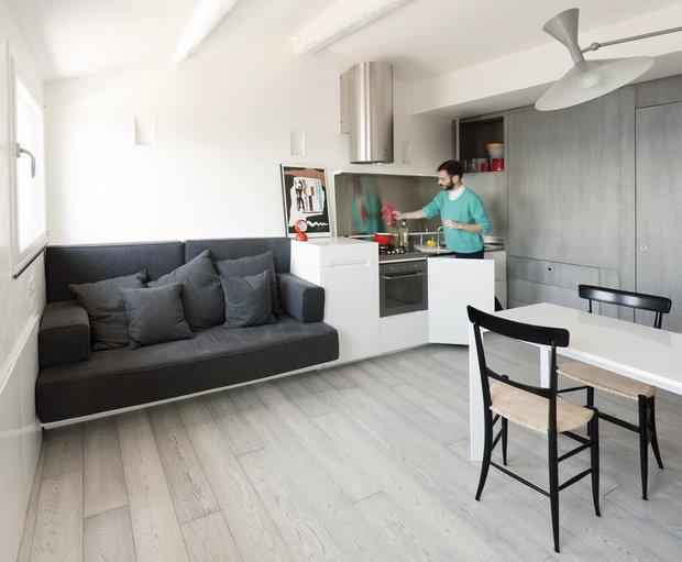 Фотография: Гостиная в стиле Эко, Малогабаритная квартира, Советы – фото на INMYROOM