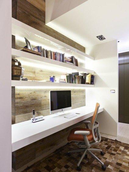 Фотография: Кабинет в стиле Современный, Эко, Интерьер комнат, Системы хранения – фото на INMYROOM