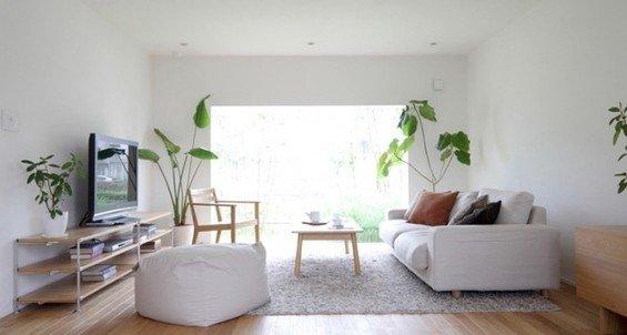 Фотография: Гостиная в стиле Минимализм, Эко, Дом, Дома и квартиры, Япония – фото на INMYROOM