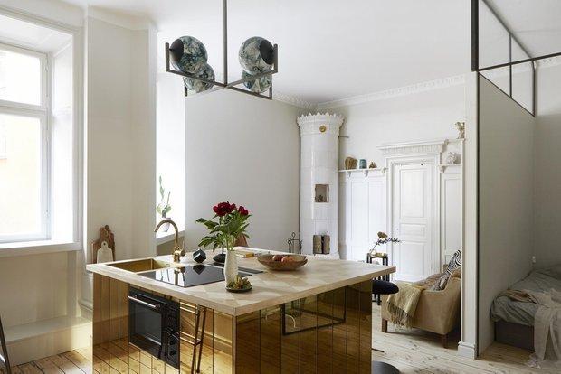 Фотография: Кухня и столовая в стиле Современный, Скандинавский, Декор интерьера, Малогабаритная квартира, Квартира, Студия, Швеция, Стокгольм – фото на INMYROOM
