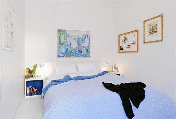 Фотография: Спальня в стиле Минимализм, Скандинавский, Декор интерьера, Интерьер комнат, Цвет в интерьере, Белый – фото на INMYROOM