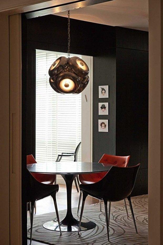 Фотография: Кухня и столовая в стиле Хай-тек, Интерьер комнат, Обеденная зона – фото на INMYROOM