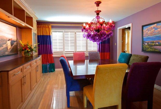 Фотография: Кухня и столовая в стиле Эклектика, Декор интерьера, Текстиль, Шторы – фото на INMYROOM