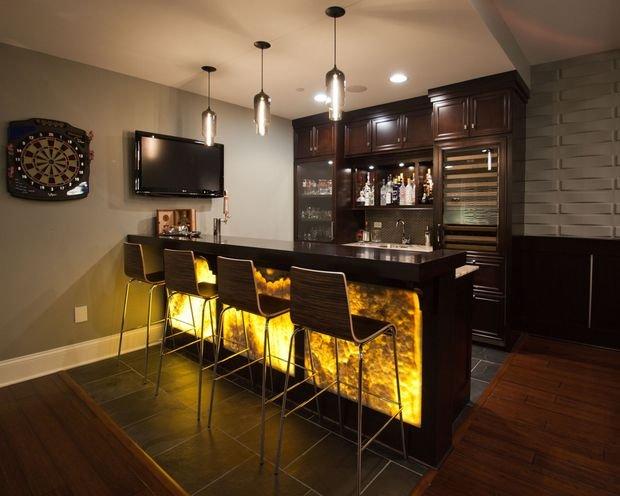 Фотография: Кухня и столовая в стиле Современный, Гостиная, Декор интерьера, Квартира, Студия, Дом, барная стойка на кухне, кухня-гостиная с барной стойкой – фото на INMYROOM