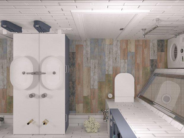 Фотография: Ванная в стиле Скандинавский, унитаз, Geberit, инсталляция унитаза, Спецпроект, монтажные системы – фото на INMYROOM
