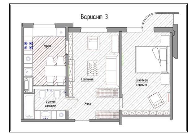 Фотография: Прочее в стиле , Квартира, Дома и квартиры, Перепланировка, П-3М – фото на INMYROOM