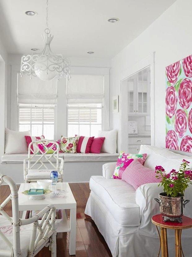 Фотография: Гостиная в стиле Прованс и Кантри, Цвет в интерьере, Стиль жизни, Советы, Белый – фото на INMYROOM