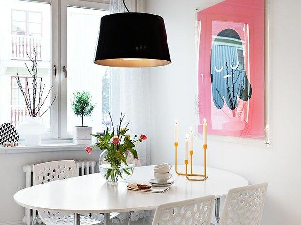 Фотография: Кухня и столовая в стиле Скандинавский, Современный, Интерьер комнат, Обеденная зона – фото на INMYROOM