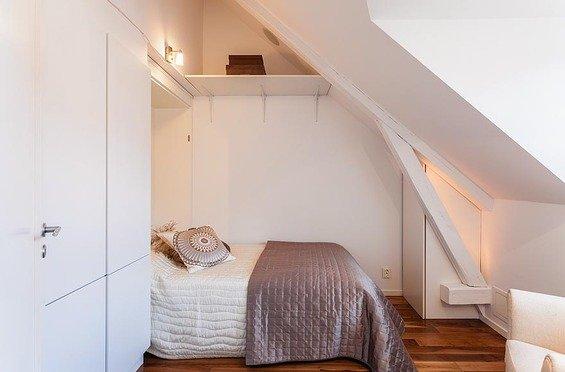 Фотография: Спальня в стиле Минимализм, Скандинавский, Квартира, Дома и квартиры – фото на INMYROOM
