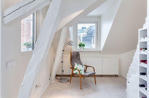 Фотография:  в стиле Скандинавский, Квартира, Мебель и свет, Дома и квартиры – фото на InMyRoom.ru