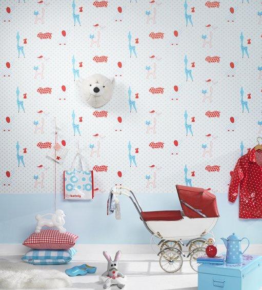 Фотография: Детская в стиле Скандинавский, Декор интерьера, Декор дома, Обои – фото на INMYROOM