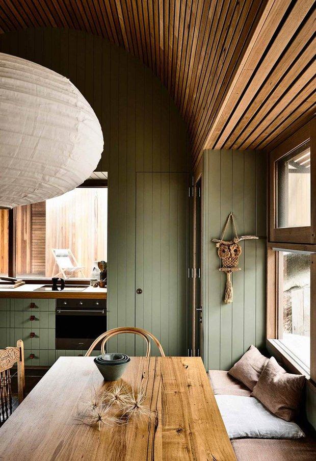 Фотография:  в стиле , Минимализм, Зеленый, Коричневый, Эко, Дом и дача – фото на INMYROOM