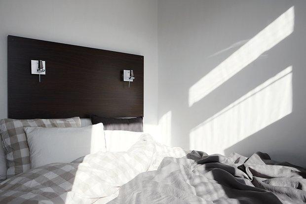 Фотография: Спальня в стиле Скандинавский, Современный, Декор интерьера, Малогабаритная квартира, Квартира, Дома и квартиры – фото на InMyRoom.ru