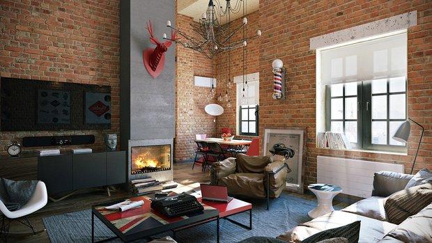 Фотография: Гостиная в стиле Лофт, Декор интерьера, Советы – фото на INMYROOM