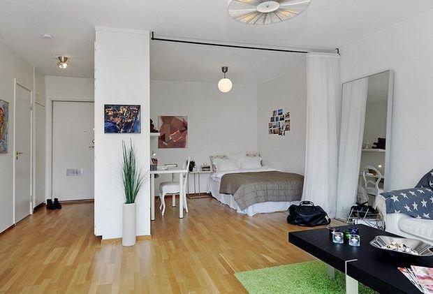Фотография: Спальня в стиле Скандинавский, Декор интерьера, Малогабаритная квартира, Квартира, Студия – фото на INMYROOM