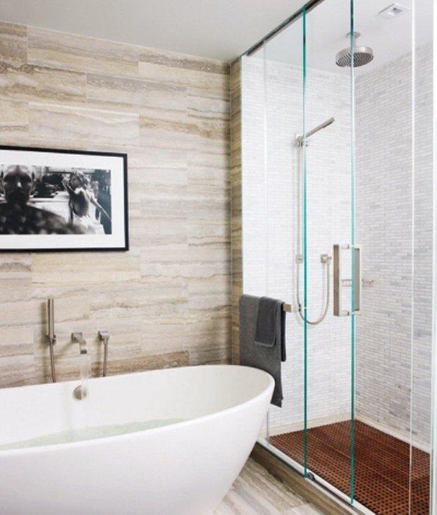 Фотография: Ванная в стиле Современный, Квартира, Дома и квартиры, Интерьеры звезд, Нью-Йорк – фото на INMYROOM