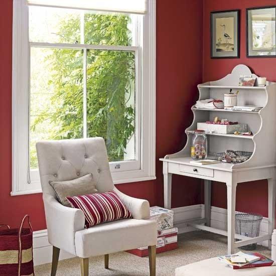 Фотография: Кабинет в стиле Прованс и Кантри, Интерьер комнат, Системы хранения – фото на INMYROOM