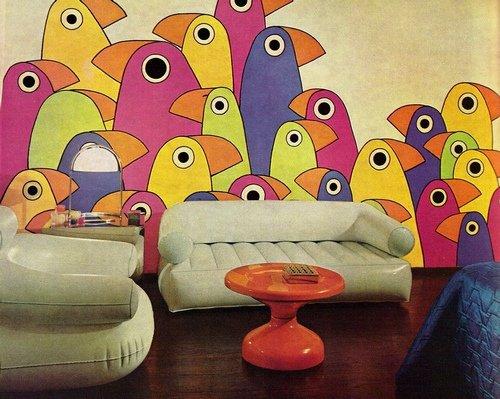 Фотография: Гостиная в стиле , Дизайн интерьера, Цвет в интерьере, Советы, Поп-арт – фото на INMYROOM