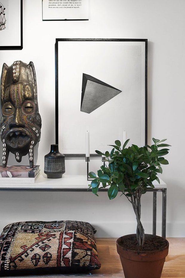 Фотография: Декор в стиле Современный, Эклектика, Скандинавский, Малогабаритная квартира, Студия, Белый – фото на INMYROOM