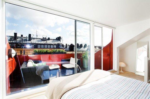 Фотография: Спальня в стиле Скандинавский, Лофт, Малогабаритная квартира, Квартира, Дома и квартиры – фото на INMYROOM