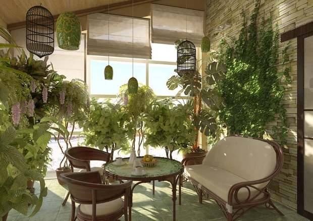 Фотография: Кухня и столовая в стиле Прованс и Кантри, Восточный, Балкон, Дом, Дома и квартиры – фото на INMYROOM