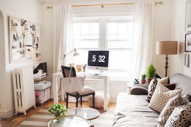 Фотография: Гостиная в стиле Скандинавский, Современный, Малогабаритная квартира, Квартира, Мебель и свет, Советы – фото на INMYROOM