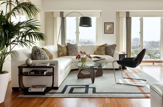 Фотография: Спальня в стиле Скандинавский, Кухня и столовая, Гостиная, Декор интерьера, Квартира, Студия, Дом, Мебель и свет, угловой диван в интерьере – фото на INMYROOM