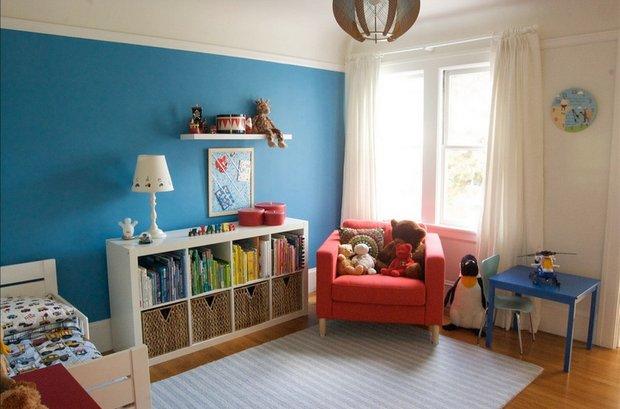 Фотография: Детская в стиле , Декор интерьера, Дизайн интерьера, Цвет в интерьере, Книги – фото на INMYROOM