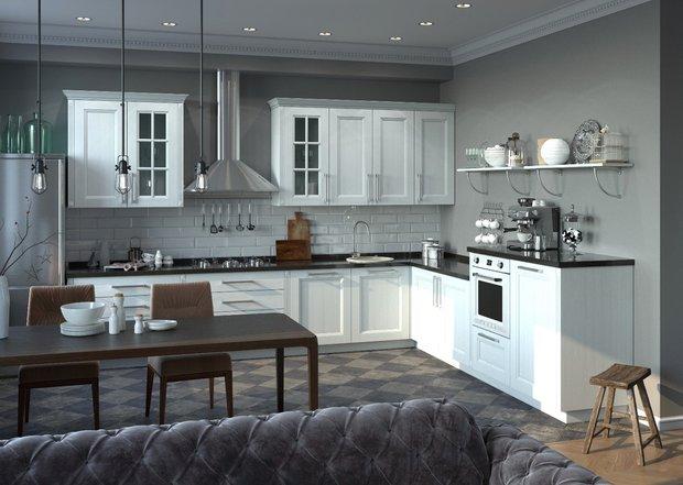 Фотография:  в стиле , Кухня и столовая, Перепланировка, Mr.Doors – фото на INMYROOM