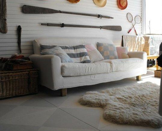 Фотография: Гостиная в стиле Скандинавский, Декор интерьера, Декор дома, Цвет в интерьере, Обои – фото на INMYROOM
