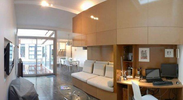 Фотография: Гостиная в стиле Лофт, DIY, Дом, Дома и квартиры, Переделка – фото на INMYROOM