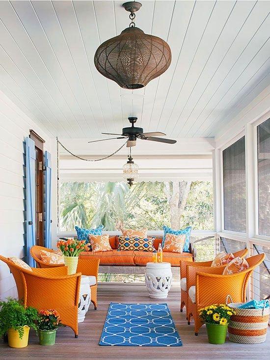 Фотография: Терраса в стиле Восточный, Декор интерьера, Декор, Белый, Зеленый, Бежевый, Синий, Голубой, Оранжевый, Бирюзовый – фото на INMYROOM