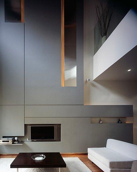 Фотография: Гостиная в стиле Современный, Квартира, Дома и квартиры, Международная Школа Дизайна – фото на INMYROOM