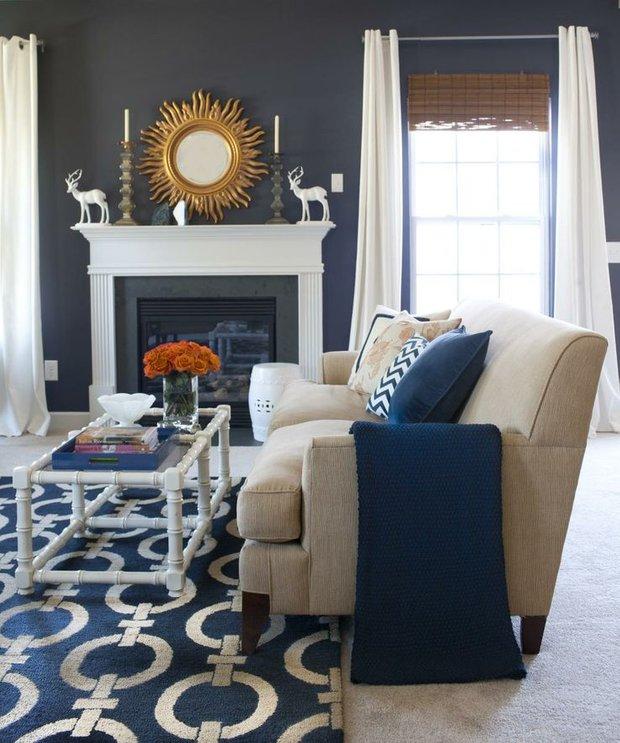 Фотография: Гостиная в стиле Прованс и Кантри, Интерьер комнат – фото на INMYROOM