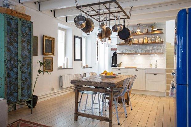 Фотография: Кухня и столовая в стиле Лофт, Скандинавский, Дом, Дома и квартиры – фото на INMYROOM