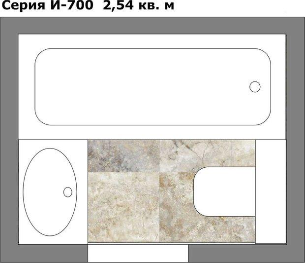 Фотография: Планировки в стиле , Ванная, Перепланировка, И-155МК, Анастасия Киселева, Максим Джураев, И-700, II-29 – фото на INMYROOM