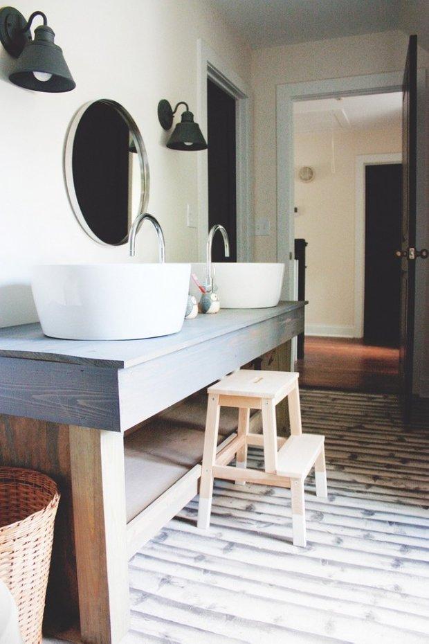 Фотография: Ванная в стиле Скандинавский, Декор интерьера, Мебель и свет, Советы, ИКЕА, лайфхаки, мебель ИКЕА в интерьере – фото на INMYROOM