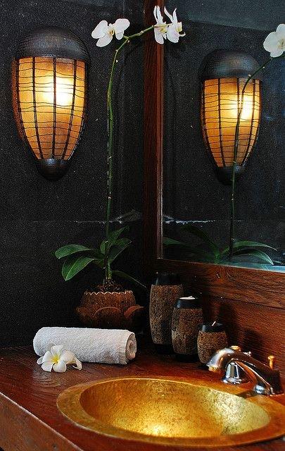 Фотография: Ванная в стиле Восточный, Эко, Декор интерьера, Квартира, Декор, Советы, раковина, раковина в ванной – фото на INMYROOM