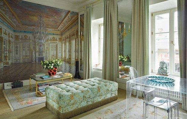 Фотография: Гостиная в стиле Классический, Малогабаритная квартира, Интерьер комнат, Советы, Зеркала – фото на INMYROOM