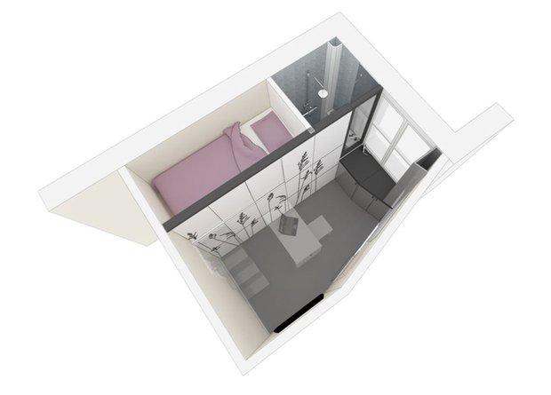 Фотография: Ванная в стиле Современный, Малогабаритная квартира, Студия, Белый – фото на INMYROOM