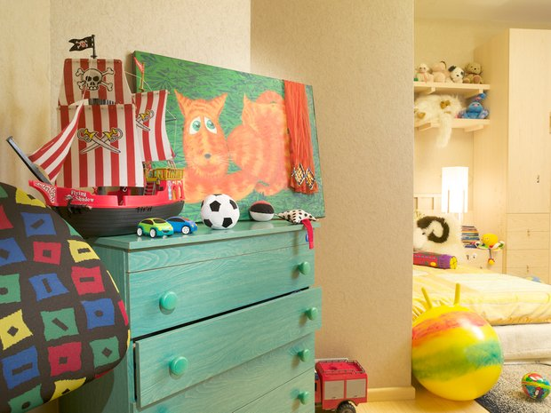 Фотография: Детская в стиле Современный, Декор интерьера, МЭД, Мебель и свет, Краска – фото на INMYROOM