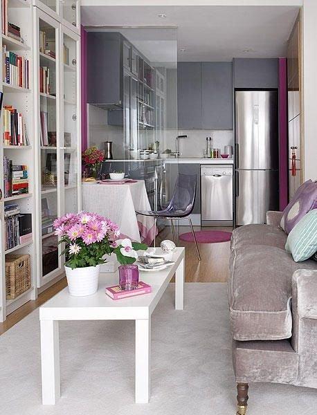 Фотография: Гостиная в стиле Современный, Малогабаритная квартира, Квартира, Советы – фото на INMYROOM