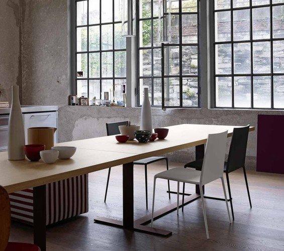 Фотография: Кухня и столовая в стиле Лофт, Квартира, Цвет в интерьере, Дома и квартиры, B&B Italia – фото на INMYROOM