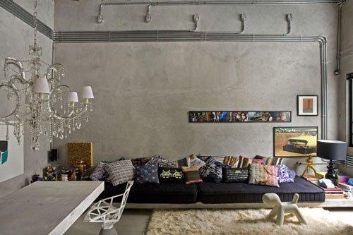 Фотография: Гостиная в стиле Лофт, Декор интерьера, Освещение, Декор, Мебель и свет, Декор дома – фото на InMyRoom.ru