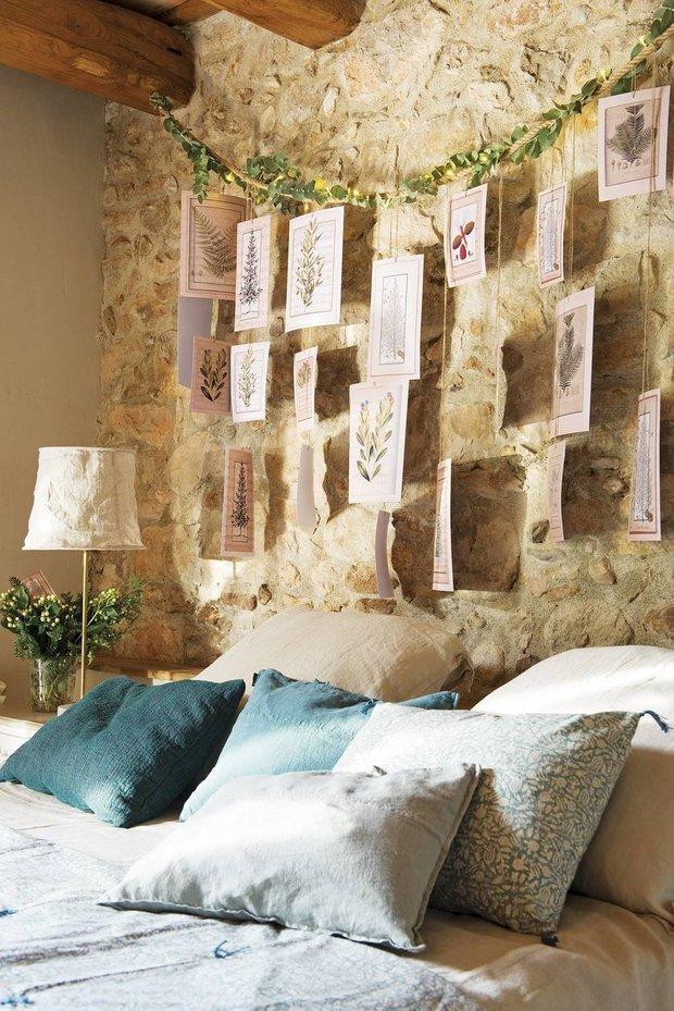 Фотография: Спальня в стиле Прованс и Кантри, Дом, Белый, Бежевый, Голубой, Бирюзовый, Эко, Дом и дача – фото на INMYROOM