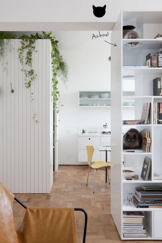 Фотография: Кухня и столовая в стиле Скандинавский, Декор интерьера, Мебель и свет, Перегородки – фото на INMYROOM